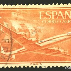Sellos: MICHEL ES 1058 - ESPAÑA - AVIÓN 'SUPERCONSTELLATION' Y NAO 'SANTA MARÍA' - 1955. Lote 288336238