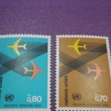 Sellos: SELLO NACIONES UNIDAS (GINEBRA) NUEVO/1978/ORGANIZACIOIN/AEREA/CIVIL/INTER/SEGURIDAD/VUELOS/AVIONES/. Lote 288368608