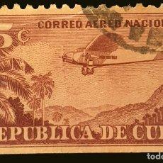 Sellos: MICHEL CU 88 - CUBA - PLANE FORD 4-AT TRI-MOTOR OVER MOUNTAIN LANDSCAPE - 1932. Lote 288468088