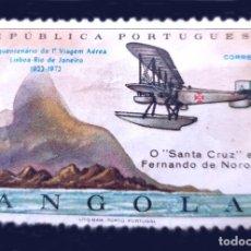 Sellos: MICHEL AO 583 - REPUBLICA PORTUGUESA - ANGOLA - 1972 - 50TH ANNIVERSARY OF LISBON - RIO DE JANIERO F. Lote 289429853