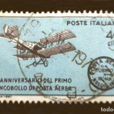 Sellos: MICHEL IT 1239 - ITALIA - 1967 - FLIGHT TURIN-ROME-TURIN, MAY 1917. Lote 289430788