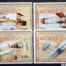 Sellos: PIONEROS DE LA AVIACIÓN SERIE DE SELLOS NUEVOS DE REPÚBLICA DE CONGO. Lote 289551018