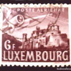 Sellos: MICHEL LU 408 - LUXEMBURGO - 1946 - AIRCRAFT WING OVER VIANDEN CASTLE. Lote 289551893