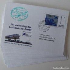 Sellos: 15 SOBRES ALEMANIA 2008 - 60 ANIVERSARIO DEL PUENTE AÉREO DE BERLÍN - TEMA: AVIACIÓN. Lote 292560613