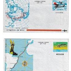 Sellos: LOTE DE 2 AEROGRAMAS ESPAÑOLES DE 1981 · RAID MADRID - MANILA (1926) / RAID PALOS - BUENOS AIRES. Lote 293252083