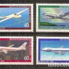 Sellos: ALEMANIA FEDERAL. 4 VALORES 1980 ***. AVIONES. YVERT 888/891.. Lote 295747188