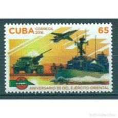 Sellos: ⚡ DISCOUNT CUBA 2016 THE 55TH ANNIVERSARY OF THE EASTERN ARMY MNH - SHIPS, AIRCRAFT, ARMY, W. Lote 295928028