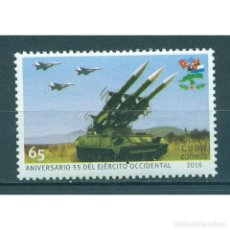Sellos: ⚡ DISCOUNT CUBA 2016 THE 55TH ANNIVERSARY OF THE WESTERN ARMY MNH - ROCKETS, AIRCRAFT, ARMY,. Lote 295928318