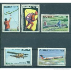 Sellos: ⚡ DISCOUNT CUBA 1974 THE 10TH ANNIVERSARY OF THE CIVIL AERONAUTICAL INSTITUTE MNH - AVIATION. Lote 295935513