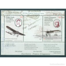 Sellos: ⚡ DISCOUNT URUGUAY 2010 AVIATION PIONEERS MNH - AIRCRAFT. Lote 295940918