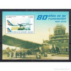 Sellos: ⚡ DISCOUNT CUBA 2009 THE 80TH ANNIVERSARY OF THE CUBANA DE AVIACI?N MNH - AVIATION, AIRCRAFT. Lote 296026618