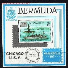 Sellos: BERMUDA HB 6** - AÑO 1986 - BARCO S. S. QUUEN OF BERMUDA. Lote 21665336