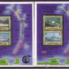 Sellos: VIRGENES HB 31/34** - AÑO 1986 - BARCOS 20º ANIV. DEL CENTRO DE CABLE SUBMARINO DE TORTOLA - BARCOS. Lote 23392075