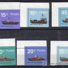 Sellos: POLONIA 1988 BARCOS NAVEGACIÓN TRANSPORTE. Lote 13403162