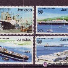 Sellos: JAMAICA 577/80** - AÑO 1983 - 25º ANIVERSARIO DE LA ORGANIZACION MARITIMA INTERNACIONAL - BARCOS. Lote 22199012