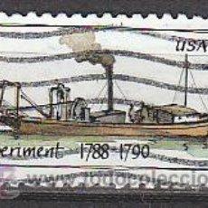 Timbres: ESTADOS UNIDOS (24-06), BARCO DE VAPOR: EL EXPERIMENT (1788), USADO. Lote 19460926