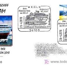 Sellos: MATASELLOS DE BARCOS - APERTURA NUEVA TEMPORADA MS FRAM. KIEL 2010. Lote 19526914