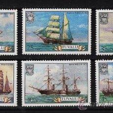 Sellos: BARCOS DE VELA - TUVALU - 6 SELLOS - SERIE COMPLETA - NUEVA - AÑO 1978. Lote 22323682
