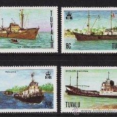 Sellos: BARCOS DE CARGA - TUVALU - Nº 63/66 - 4 SELLOS.- SERIE COMPLETA - NUEVA - AÑO 1978. Lote 22323761