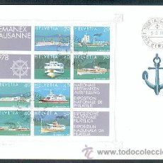 Sellos: SUIZA (FDC). Lote 24009955