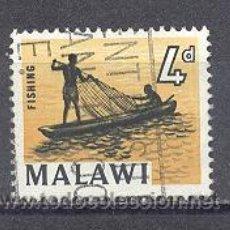 Timbres: MALAWI- PESCADORES- USADO. Lote 24542027