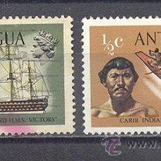 Timbres: ANTIGUA- BARCOS Y PERSONAJES. Lote 24542152
