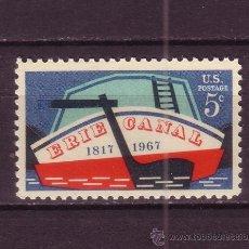 Sellos: ESTADOS UNIDOS 828*** - AÑO 1967 - 150º ANIVERSARIO DEL CANAL DE ERIE - BARCOS. Lote 128662814
