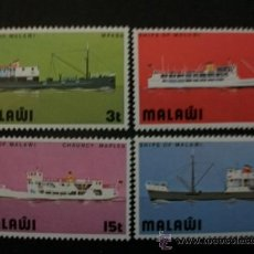 Sellos: SELLOS SERIE COMPLETA BARCOS MALAWI. Lote 27130814