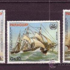 Sellos: PARAGUAY AEREO 939/41*** - AÑO 1983 - BARCOS - 25º ANIV. DE LA ORGANIZACION MARITIMA INTERNACIONAL. Lote 26560344