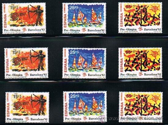 1992 ESPAÑA MAR Y BARCOS (3157) (3163) (3164 A 3187) (3191) (3195) (3196) (3204 A 3209) (3223) (Sellos - Temáticas - Barcos)