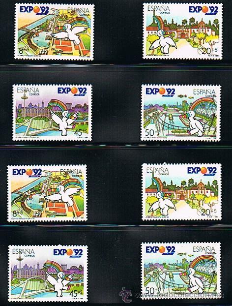 1990 ESPAÑA MAR Y BARCOS (3050 A 3053) (3079 A 3082) (3079C) (Sellos - Temáticas - Barcos)