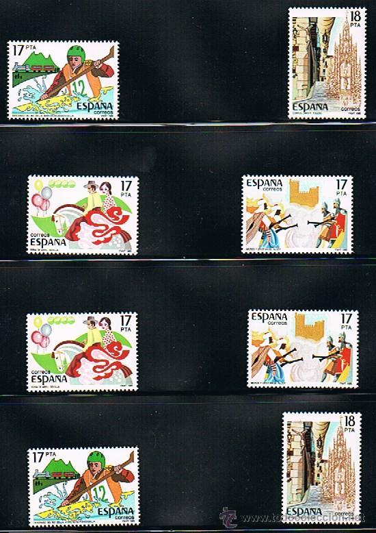 1985 ESPAÑA MAR Y BARCOS (2783 A 2786) (2791 A 2792) (Sellos - Temáticas - Barcos)
