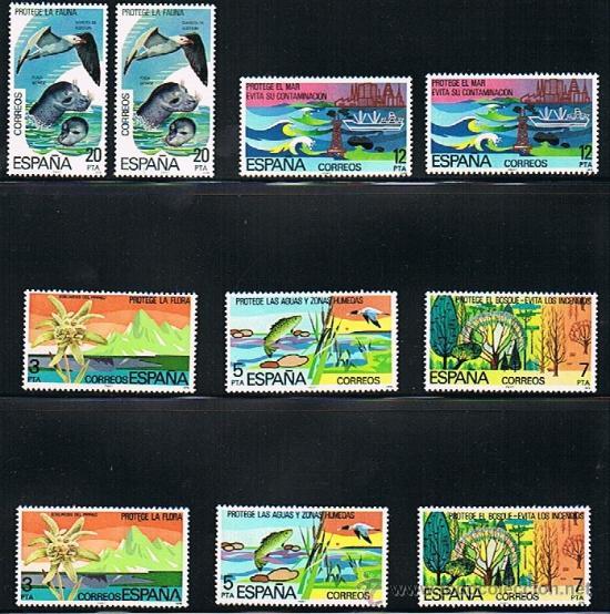 1978 ESPAÑA MAR Y BARCOS (2469 A 2473) (2477 A 2479) (2480) (Sellos - Temáticas - Barcos)