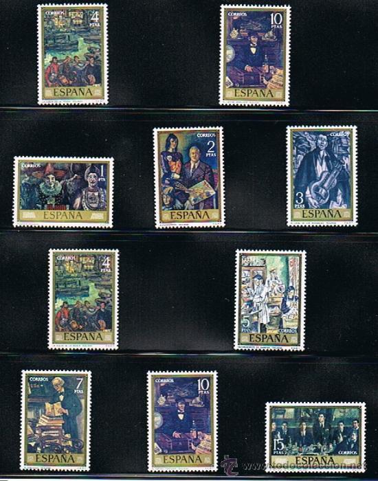 1972 ESPAÑA MAR Y BARCOS (2077 A 2084) (2098 A 2101) (2107 A 2110) (Sellos - Temáticas - Barcos)