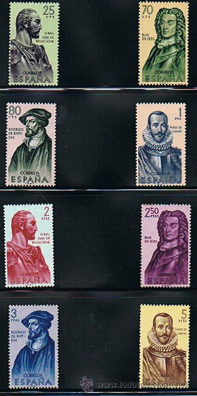 Sellos: 1961 ESPAÑA MAR y BARCOS (1353 a 1364) (1374 a 1381) - Foto 2 - 28816813