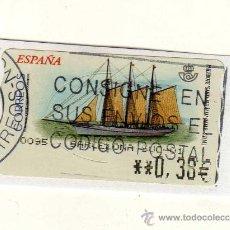 Sellos: SELLO USADO DE VALOR VARIABLE DEDICADO AL TEMA BARCOS (PAILEBOTE SANTA EULÀLIA) . Lote 30039268