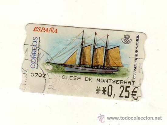 SELLO USADO DE VALOR VARIABLE DEDICADO AL TEMA BARCOS (PAILEBOTE SANTA EULÀLIA) (Sellos - Temáticas - Barcos)