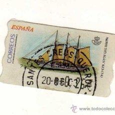 Sellos: SELLO USADO DE VALOR VARIABLE DEDICADO AL TEMA BARCOS (PAILEBOTE SANTA EULÀLIA) . Lote 30039355