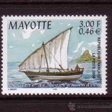Timbres: MAYOTTE 81*** - AÑO 2000 - BARCOS. Lote 32023451