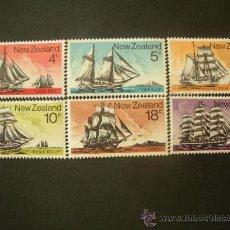 Sellos: NUEVA ZELANDA 1975 IVERT 629/34 *** NAVEGACIÓN - BARCOS VELEROS. Lote 32075106