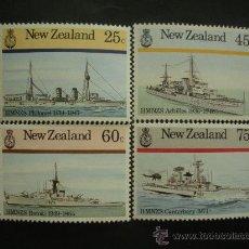 Sellos: NUEVA ZELANDA 1985 IVERT 909/12 *** BARCOS DE LA MARINA DE GUERRA DE NUEVA ZELANDA. Lote 32649884