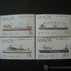 Sellos: MALTA 1987 IVERT 756/9 *** HISTORIA DE LA MARINA MALTESA (V) - BARCOS A VAPOR. Lote 33391414