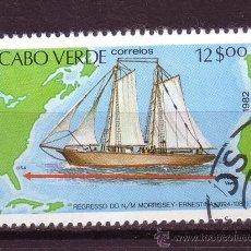 Timbres: CABO VERDE 461 - AÑO 1982 - VIAJE DEL MORRISEY ERNESTINA - BARCOS. Lote 35679489