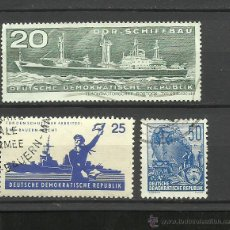 Timbres: ALEMANIA LOTE DE SELLOS TEMATICA BARCOS DE NAVEGACION- BOATS- VOILIERS - BARCO - SHIPS. Lote 40420247