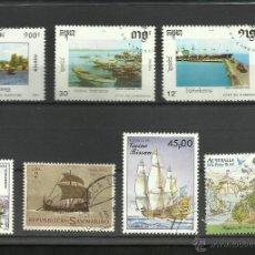 Sellos: LOTE DE SELLOS BARCOS DE NAVEGACION- BOATS- VOILIERS - BARCO - SHIPS. Lote 40420385