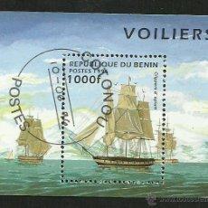 Sellos: BENIN 1996 HOJA BLOQUE SELLOS BARCOS DE NAVEGACION- BOATS- VOILIERS - BARCO - SHIPS. Lote 41447605