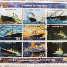 Sellos: SELLO BLOQUE DE LA REPUBLICA DE GUINEA TITANIC 9 ITEMS. Lote 43226300