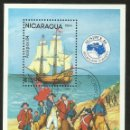 Sellos: NICARAGUA 1984 HOJA BLOQUE TEMATICA BARCOS- EXPOSICION FILATELICA AUSIPEX 84- MELBOURNE. Lote 44390032