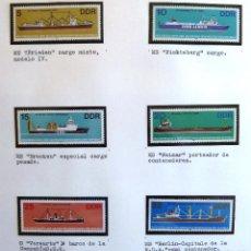 Sellos: SELLOS ALEMANIA ORIENTAL. BARCOS DE ALTA MAR. SERIE COMPLETA Y NUEVA. 6 VALORES. 1982.. Lote 44775060