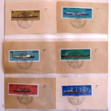 Sellos: SELLOS ALEMANIA ORIENTAL. BARCOS DE ALTA MAR. SERIE COMPLETA Y MATASELLADA. 6 VALORES. 1982.. Lote 44775104